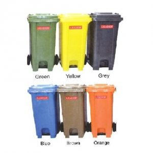 Mobile Garbage 2 Wheeled Bins – Foot Pedal