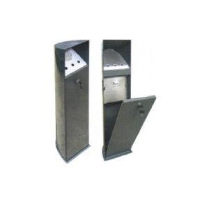 Stainless Steel Ground-Mounted Ashtray Bin : ASH-174/SS